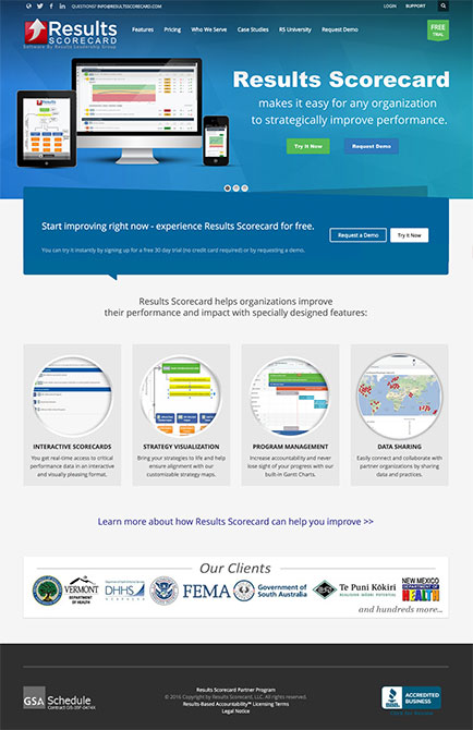 results-scorecard-website