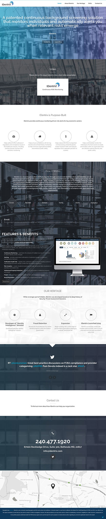 IDentrix Website Before