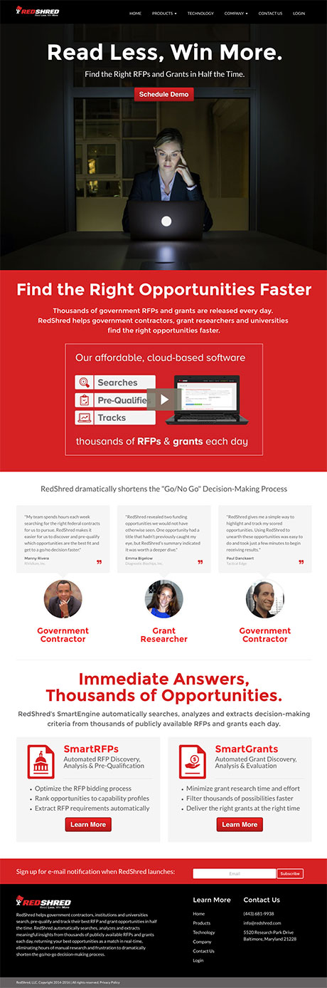 redshred-website-design-homepage