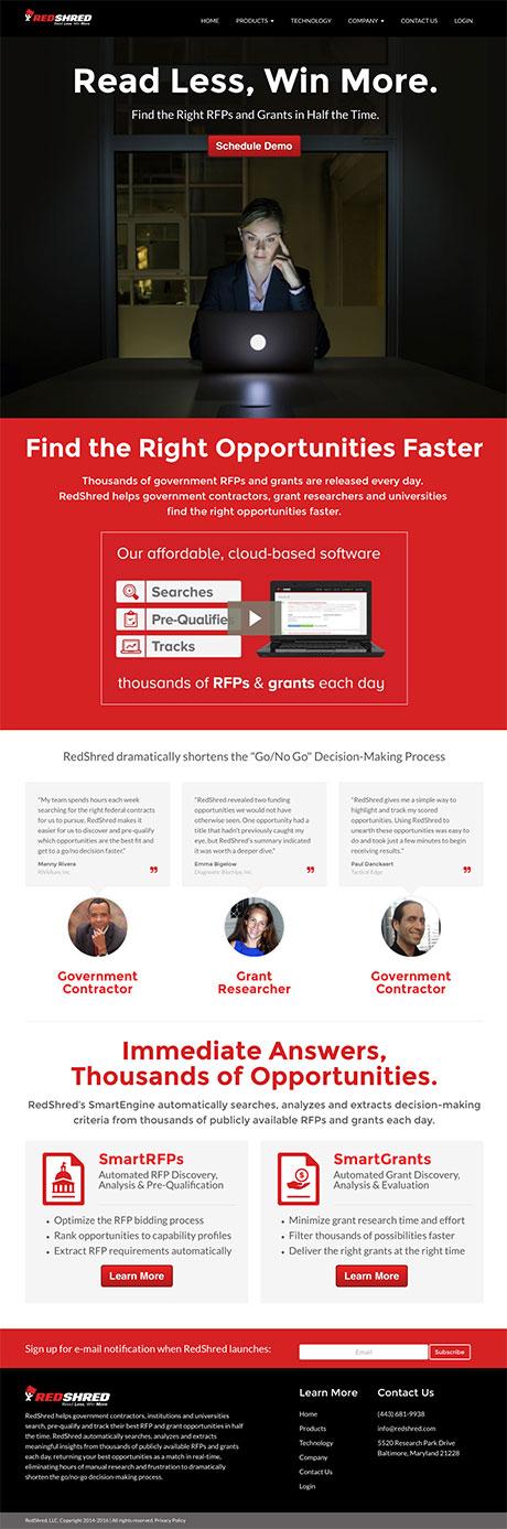 redshred-website-design-homepage