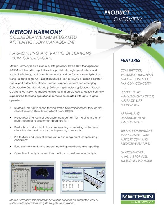 Metron Aviation Product Datasheets