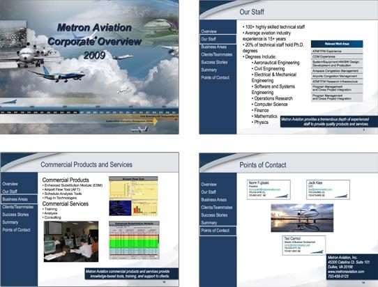 Metron Aviation Sales Presentation Before
