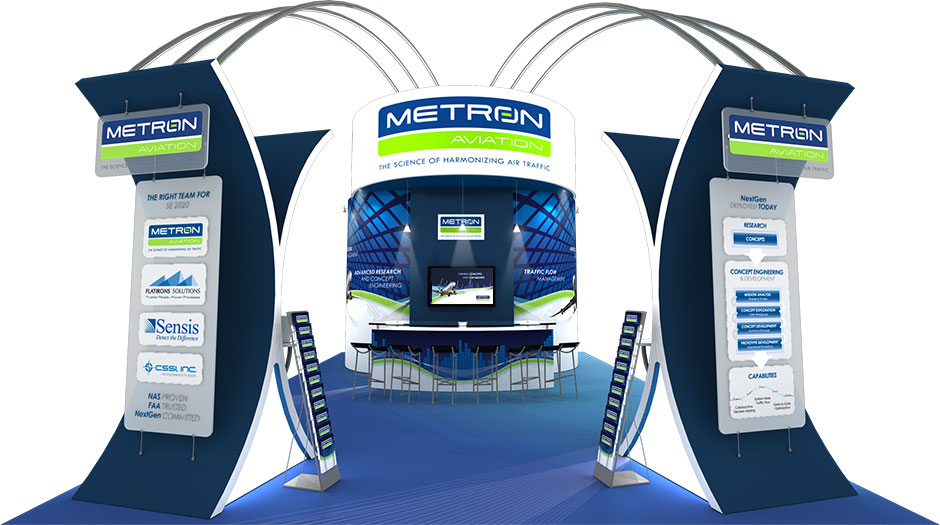 Metron Aviation 20' x 30' Tradeshow Booth