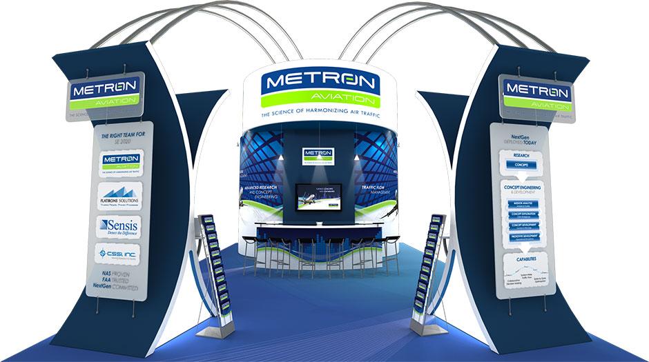 Metron Aviation 20' x 30' Tradeshow Booth