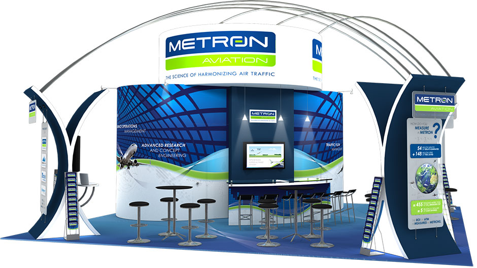 Metron Aviation 30' x 30' Tradeshow Booth