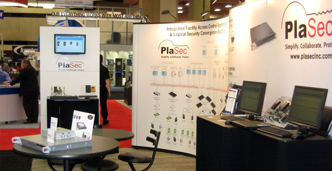 PlaSec Tradeshow Booth