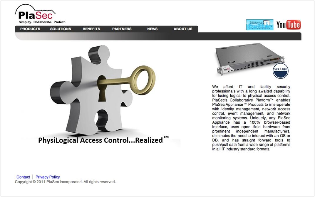PlaSec Website Before