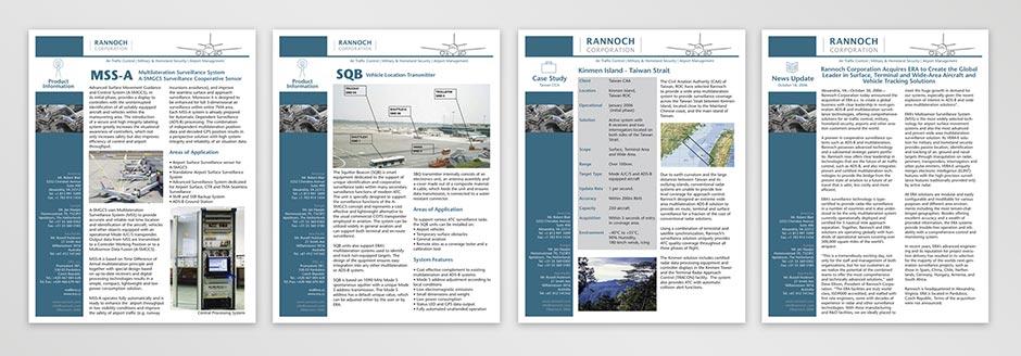 Rannoch Product Datasheets
