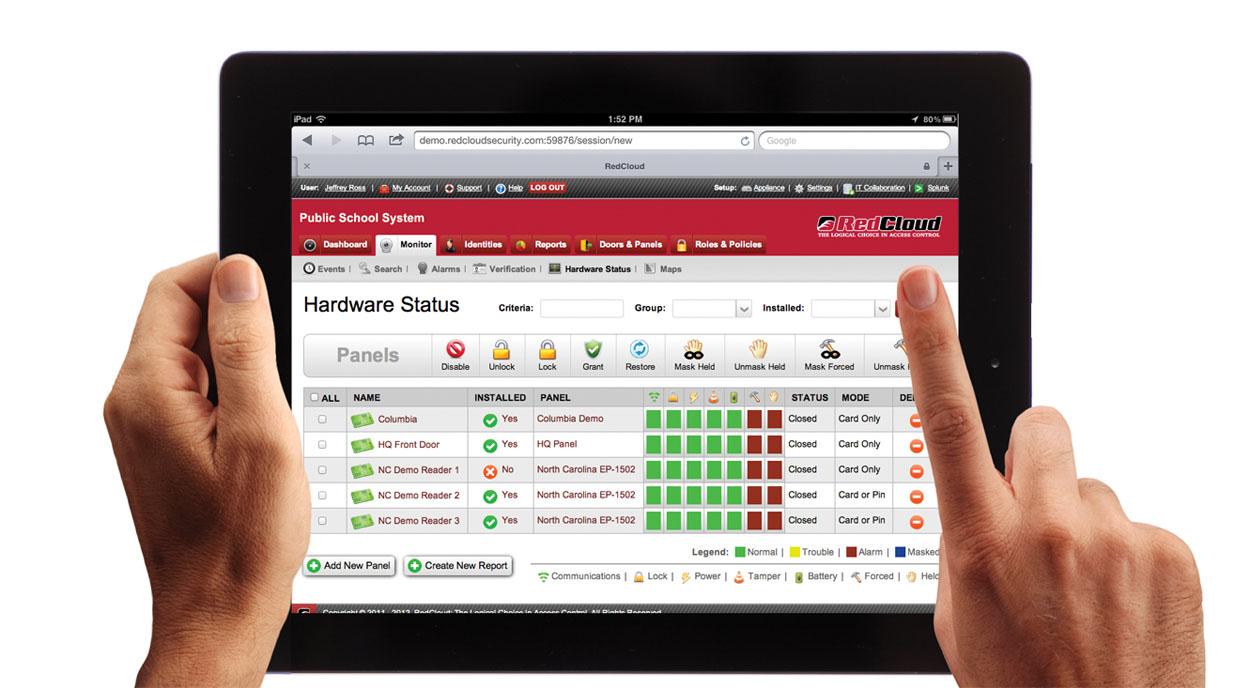 RedCloud iPad Interface