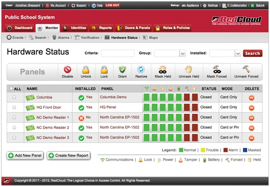 RedCloud Software Interface