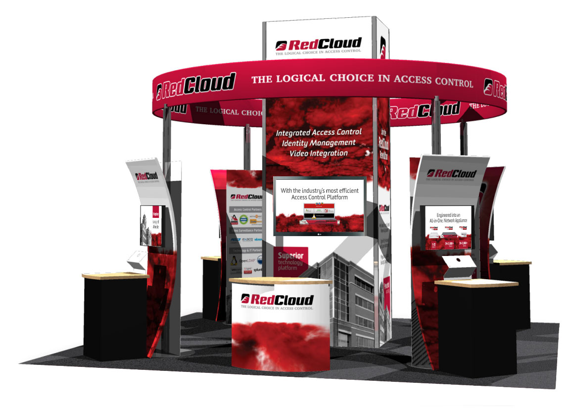RedCloud 20' x 20' Tradeshow Booth