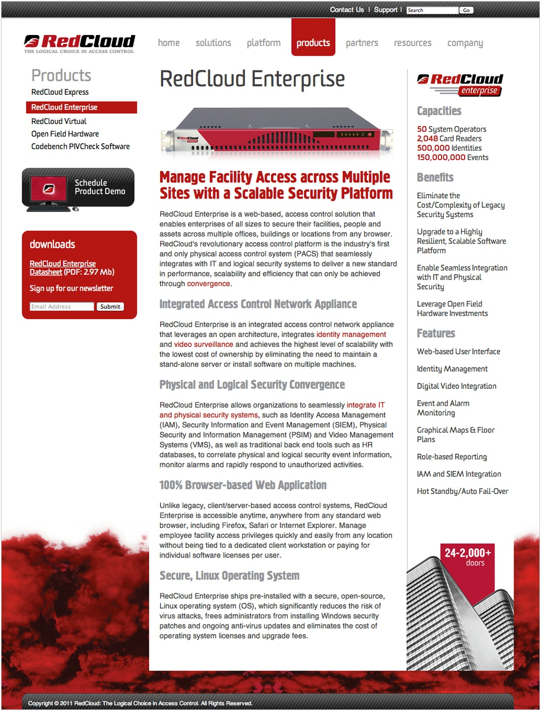 RedCloud Website Product Page