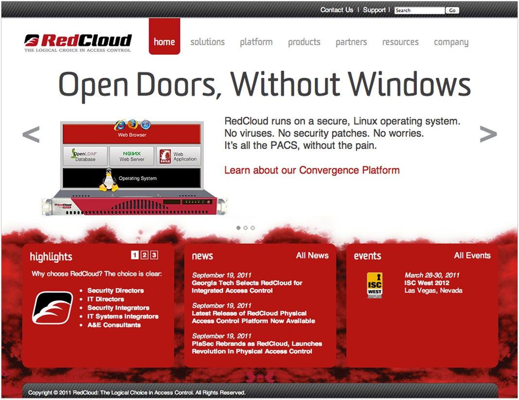 RedCloud Website After