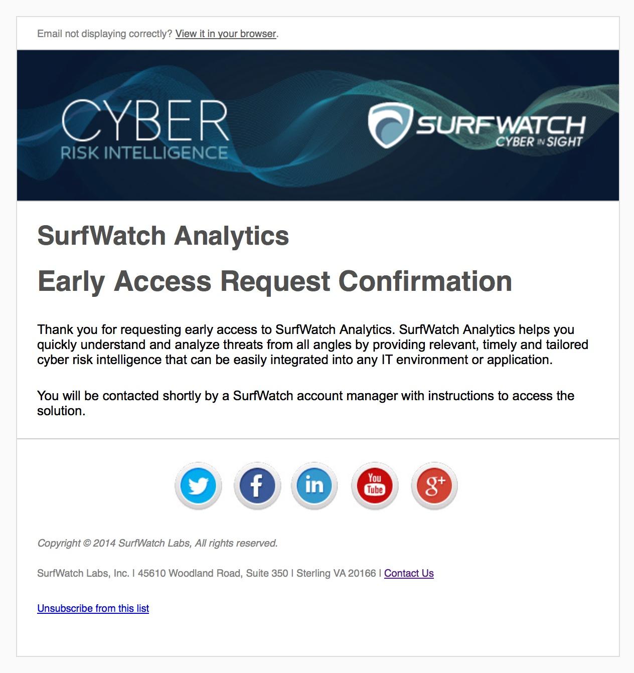 SurfWatch E-mail Marketing