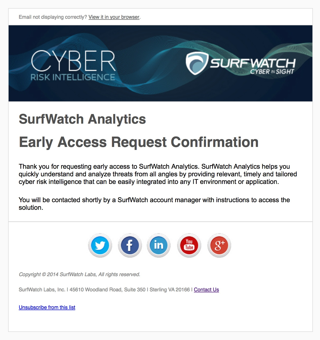 SurfWatch E-mail Marketing