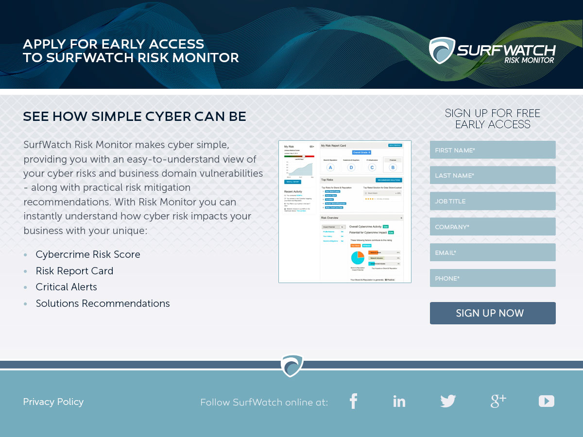 SurfWatch Landing Page