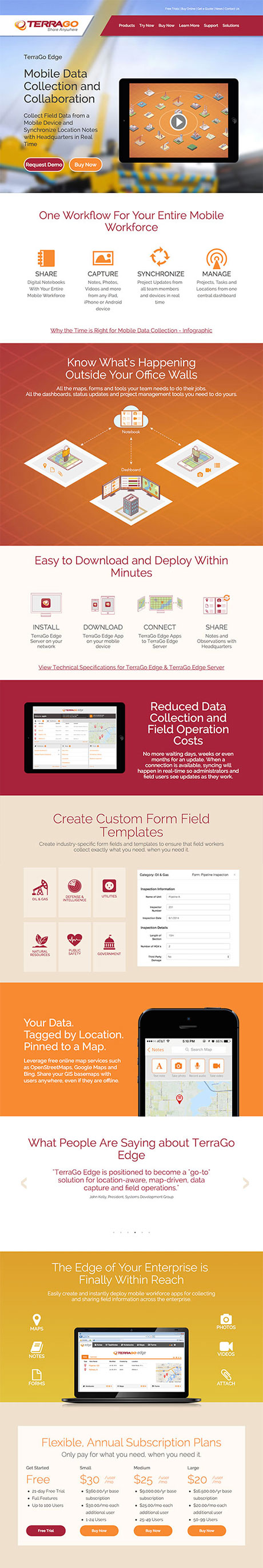 TerraGo Edge Product Page