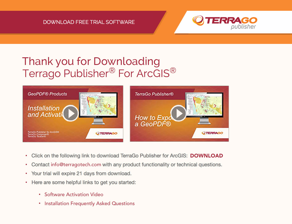 TerraGo Responsive Thank You Page