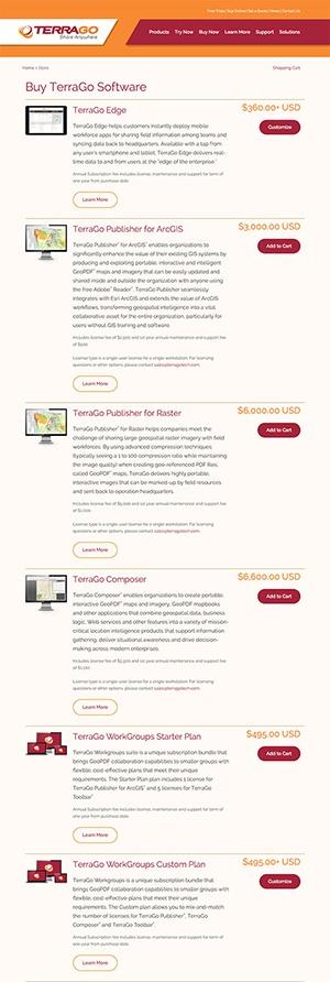 TerraGo Responsive Online Store