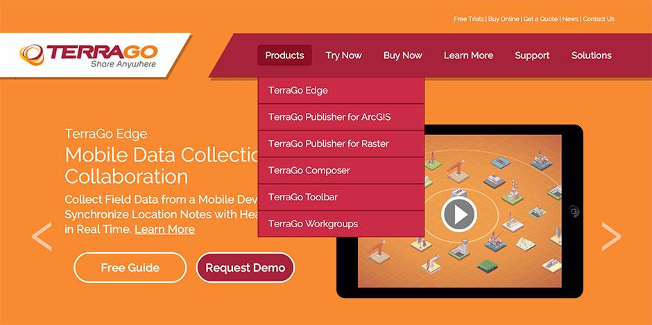 TerraGo Website Menu