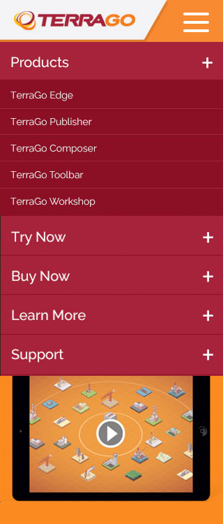 TerraGo Website Mobile Menu